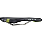 Ergon SME3-S Pro Titanium Saddle: Small, Black