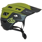 6D ATB-1T Evo Trail Helmet: Army Green/Black