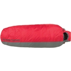 Big Agnes Inc. Encampment 15F Sleeping Bag: Synthetic Red/Gray Long
