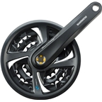 Shimano Tourney TX801 6/7/8-Speed 170mm 22/32/42t Square Crankset with Chainguard, Black