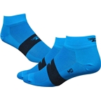 Defeet Aireator Team Sock: Process Blue/Black Stripe
