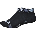 Defeet Aireator Argyle Women's Sock: Black/Graphite/White