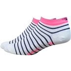 Defeet Aireator Sailor Women's Sock: White/Navy/Flamingo Pink