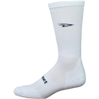 Defeet D-Evo D-Logo Crew Sock: Solid White/Black