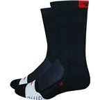 "Defeet Thermeator 6"" Sock: Black/Red SM"