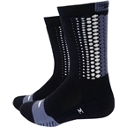 "Defeet Thermeator 6"" Sock: Tread Black/Gray SM"