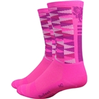 Mad Alchemy Aireator Candy Crush Sock: Hi-Vis Pink/Triangles
