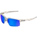 100% Speedcoupe Sunglasses: Aurora Frame with Ice Mirror Lens, Spare Clear Lens Included