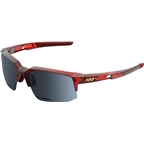 100% Speedcoupe Sunglasses: Cherry Palace Frame with Black Mirror Lens, Spare Clear Lens Included