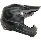 6D ATR-1Y Macro Youth Full Face Helmet: Matte Black