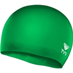 TYR Wrinkle-Free Silicon Junior Swim Cap: Apple Green
