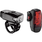 Lezyne KTV Drive Headlight and Taillight: Black