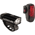 Lezyne Hecto 400XL Headlight and Taillight: Black
