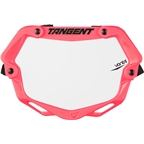 Tangent Ventril 3D Small Number Plate Neon Pink with White Insert