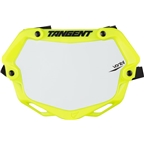 Tangent Ventril 3D Small Number Plate Neon Yellow with White Insert