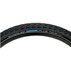 """Schwalbe Marathon Plus Tour Tire, 26 x 2"""" Wire Bead Black with Reflective Sidewall and SmartGuard Protection"""