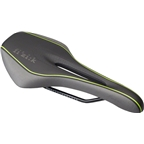 Fizik Luce Manganese Rail Saddle: Large, Black/Lime