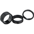 Ciari Anelli 1-1/8 Headset Spacers Black 5mm 10mm and 15mm Spacer Kit