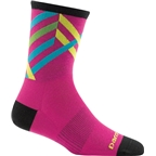 Darn Tough Graphic Stripe Micro Crew Ultra Light Women's Sock: Pink