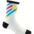 Darn Tough Graphic Stripe Micro Crew Ultra Light Women's Sock: White