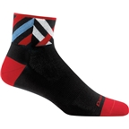 Darn Tough Graphic 1/4 Ultra Light Men's Sock: Black