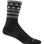 Darn Tough Stars/Stripes Micro Crew Ultra Light Men's Sock: Black