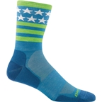 Darn Tough Stars/Stripes Micro Crew Ultra Light Men's Sock: Blue