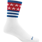 Darn Tough Stars/Stripes Micro Crew Ultra Light Men's Sock: White