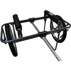 Seattle Sports Company Go! Cart Center Cart and Bike Trailer Kit: Gray Frame with Spoked Wheels