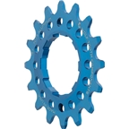 "Wolf Tooth Components Single Speed Aluminum Cog: 16T, Compatible with 3/32"" chains, Blue"