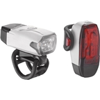 Lezyne LED KTV Drive Headlight and Taillight Set: White