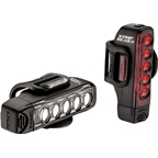 Lezyne Strip Drive Headlight and Taillight: Black