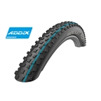 "Schwalbe Rocket Ron Tire: 27.5+ x 3"" Tubeless Easy SnakeSkin with Addix Speedgrip Compound, Folding Bead, Black"