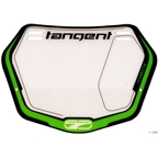 Tangent Ventril 3D Small Number Plate Neon Green with White Insert