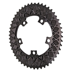 Absolute Black Premium Oval Road Chainring, 5x110BCD 50T - Black