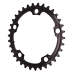 Absolute Black Premium Oval Road Chainring, 5x110BCD 34T - Black