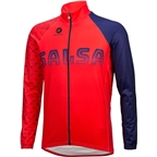 Salsa 2018 Team Kit Men's Long Sleeve Jersey:  Dark Blue/Red