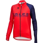 Salsa 2018 Team Kit Women's Long Sleeve Jersey: Dark Blue/Red