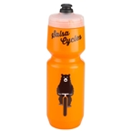 Salsa Wide Mouth Purist Water Bottle: 22oz Bike Ridin' Bear Orange