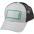 Surly Name Patch Trucker Hat: Gray/Green One Size