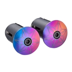 Supacaz Star Plugz Bar Plugs, Anodized Oil Slick
