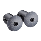 Supacaz Star Plugz Bar Plugs, Anodized Gun Metal