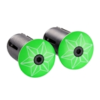 Supacaz Star Plugz Bar Plugs, Powder Coated Neon Green