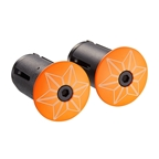 Supacaz Star Plugz Bar Plugs, Powder Coated Neon Orange