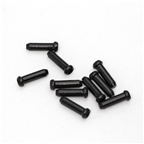 Yokozuna Cable End Crimps, 1.6mm Black - 10/bag