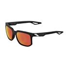 100% Centric Sunglasses, Crystal Black/Red - HiPER Red Mirror