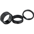 "Ciari Anelli 1"" Headset Spacers Black 5mm 10mm and 15mm Spacer Kit"