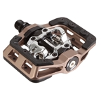 "DMR V-Twin Clipless Pedals: 9/16"", Alloy Outer Platform, Nickel Gray"