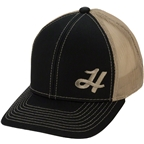 Heller Logo Cap: Black/Tan, One Size