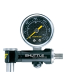 Topeak Shuttle Gauge, 300 PSI/20.7 BAR, With Hard Shell Bag